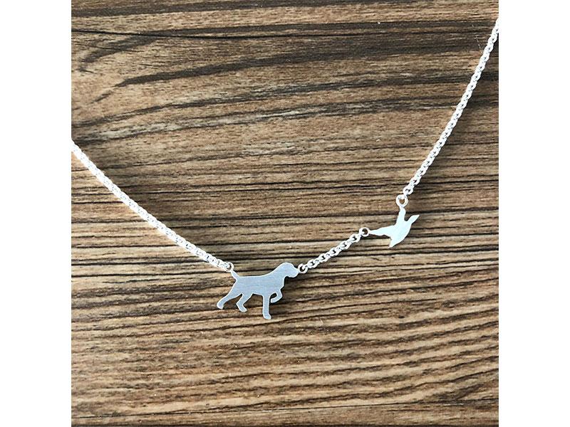 kleine Jagdschmuckschmiede Halskette Drahthaar auf Entenjagd