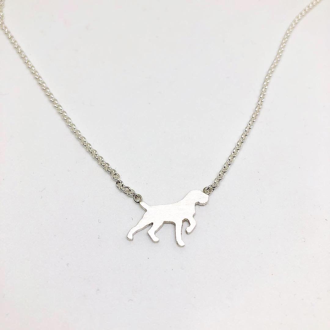 kleine Jagdschmuckschmiede Halskette der dezente Drahthaar
