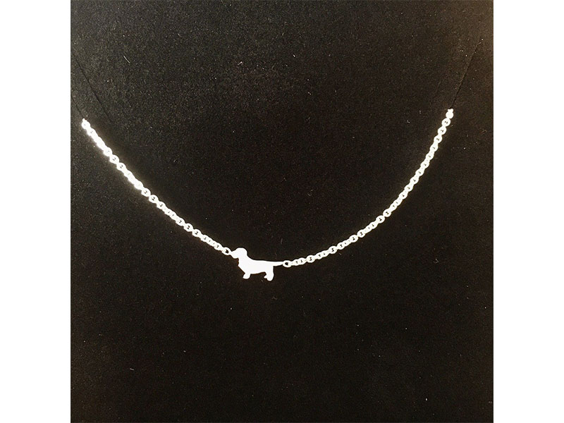 kleine Jagdschmuckschmiede Halskette Silberdackel Mini