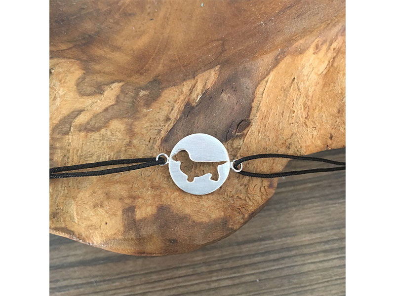 kleine Jagdschmuckschmiede Armband Silver Dackel