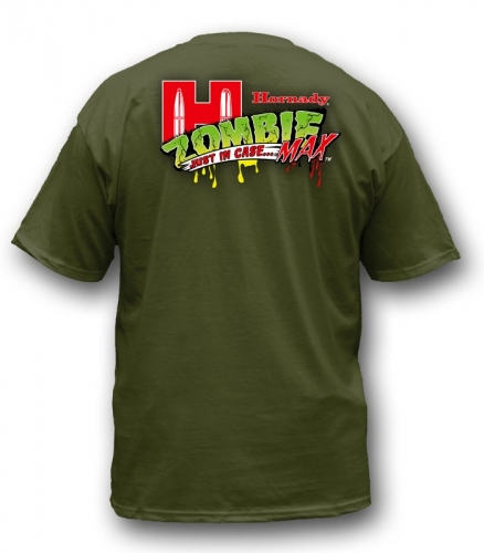 HORNADY T SHIRT ZOMBIE SLAYER GREEN 100% BAUMWOLLE