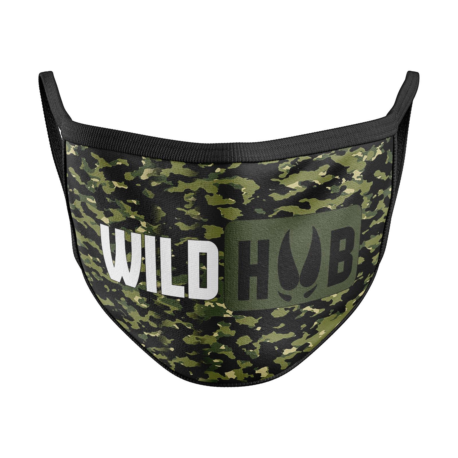WILD HUB Mund Nasen Behelfsmaske Mund Nasen Maske Camo Design Größe verstellbar
