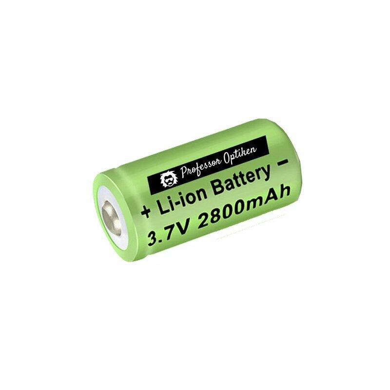 CR123A Lithium-Ionen-Akku, 3,7 Volt mit 2800 mAh