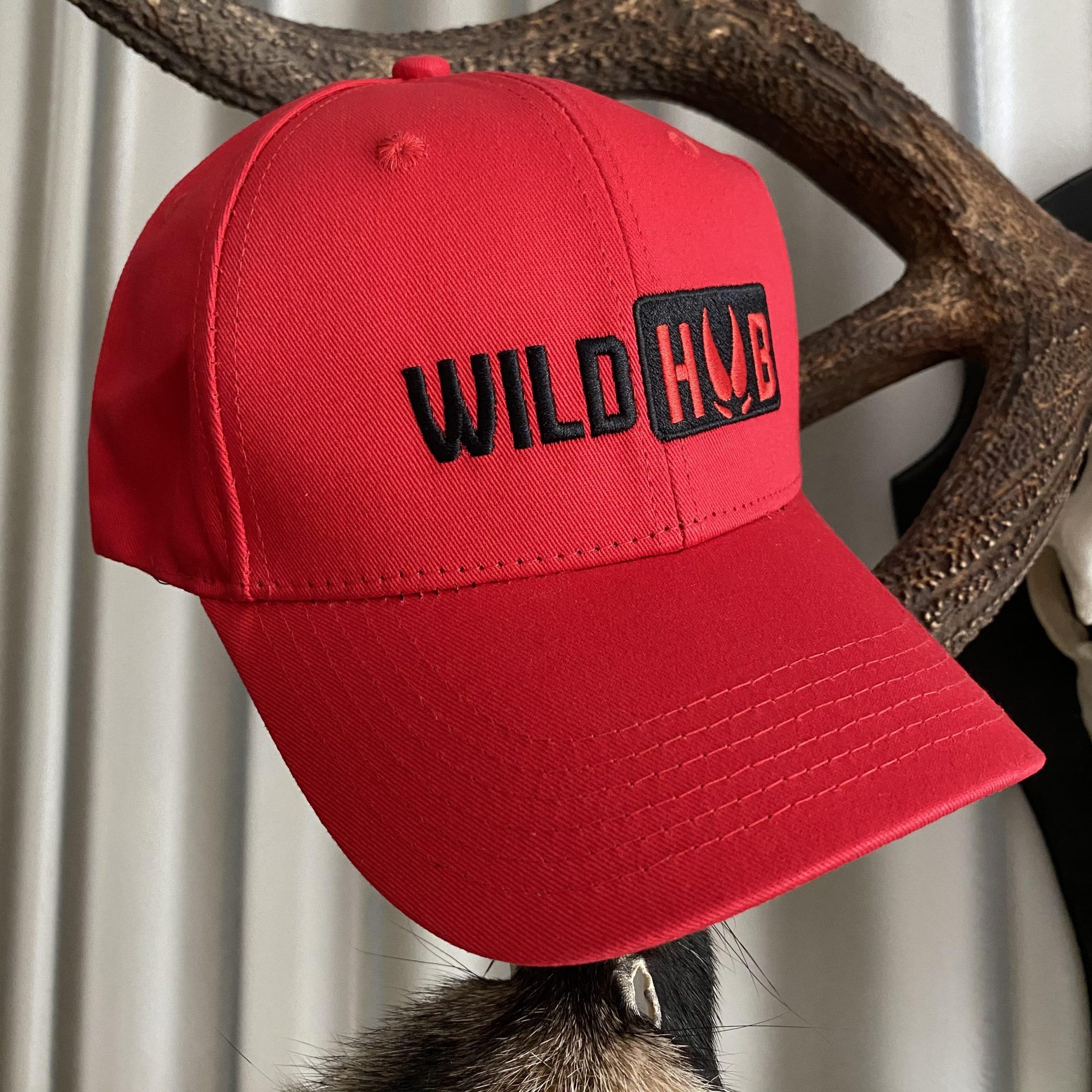 Wild Hub Flex Fit Cap Hundeführer Cap Rot